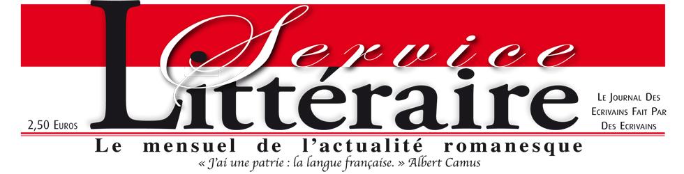 Logo Service Littéraire. Le mensuel de l'actualité littéraire
