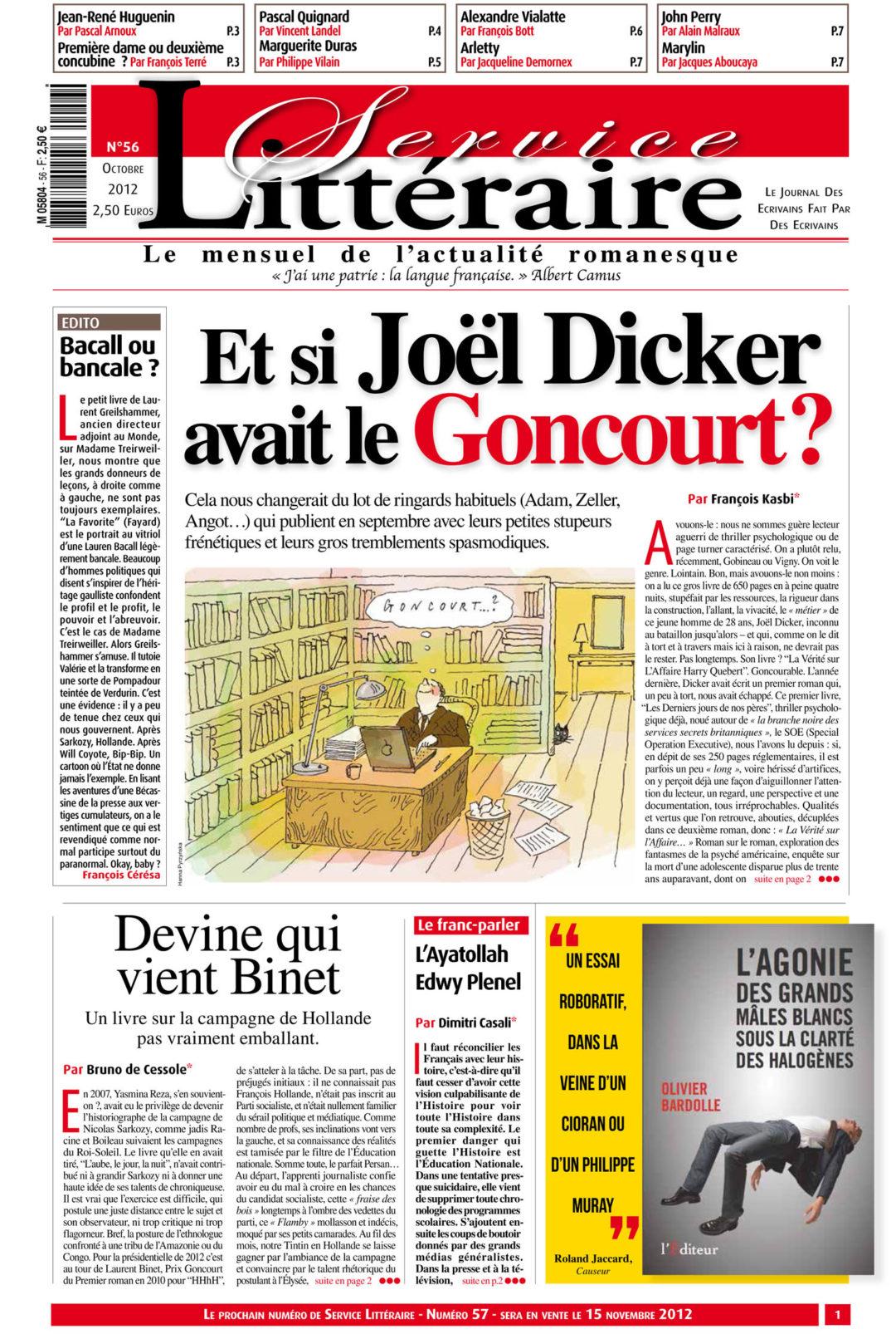 Joel Dicker Goncourt ?