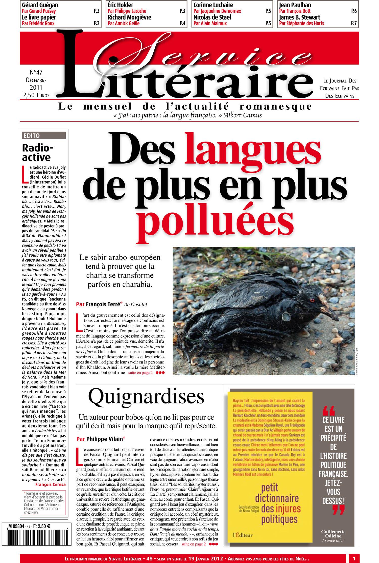 Des langues de plus ne plus polluées
