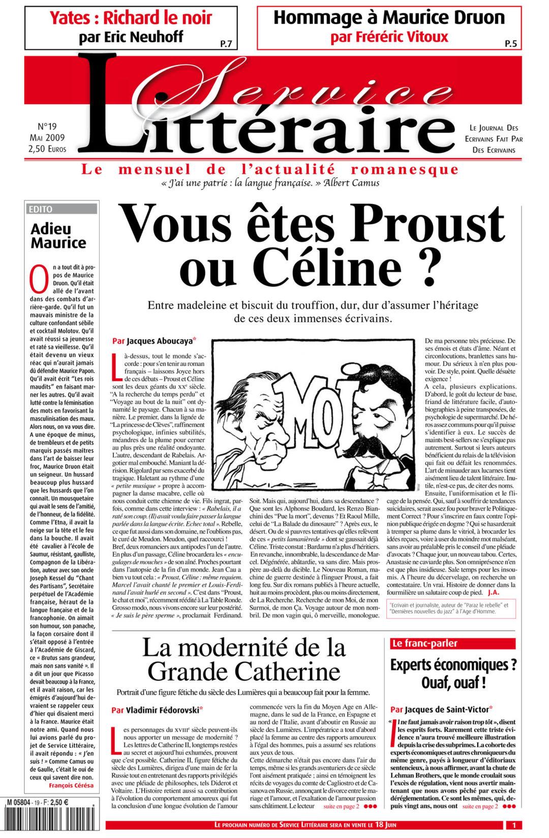 Vous êtes Proust ou Céline ?