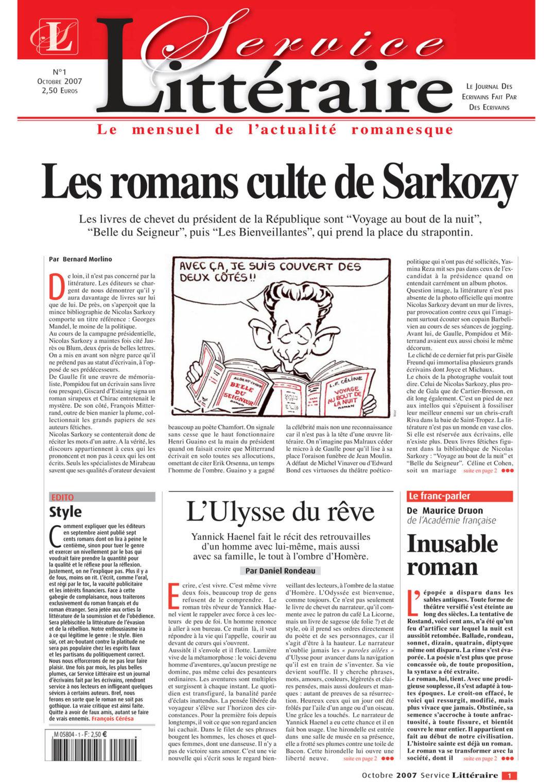 Les romans cultes de Sarkozy