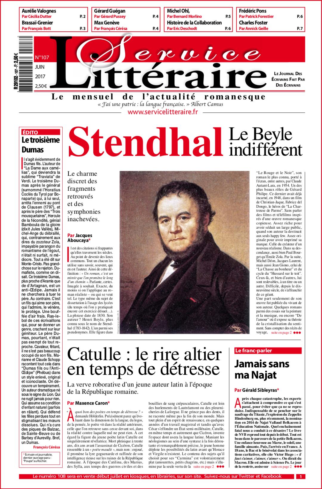 Stendhal une 107 juin 2017