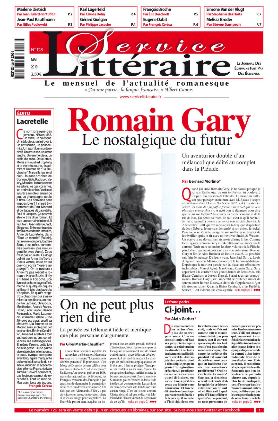 Romain Gary SL 128 Mai 2019