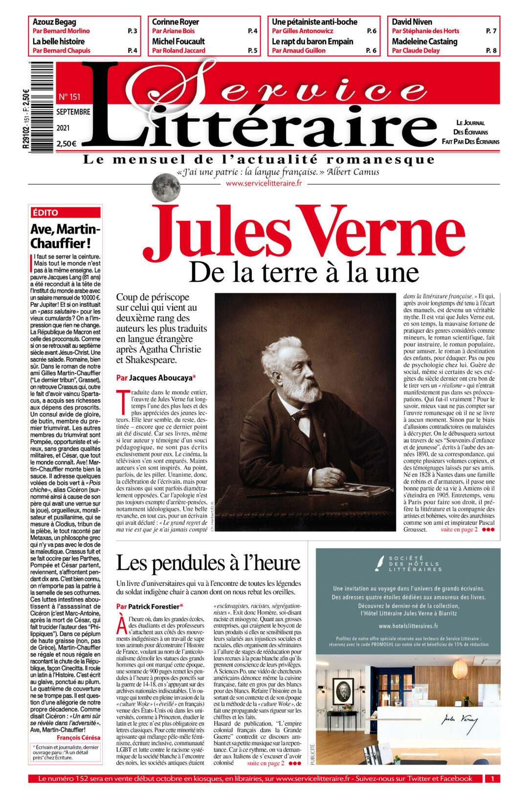 SL 151 Septembre 2021 Jules Verne